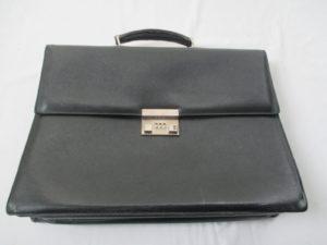 BALLY ビジネス バッグ  擦れ コバはげ 染め直し 持ち手 交換 修理